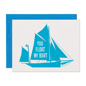 SALE - Float My Boat Love Card