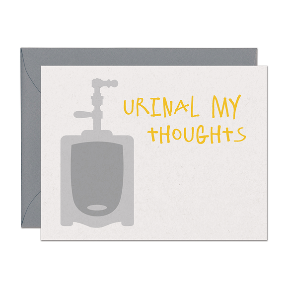 SALE - Urinal My Thoughts Support Card
