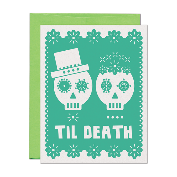 Til Death Wedding Love Card