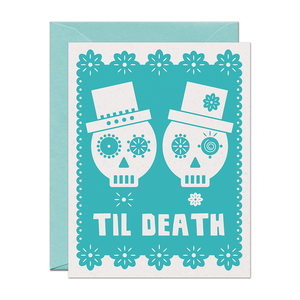Til Death Señors Wedding Love Card