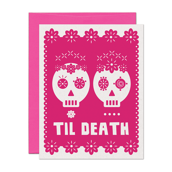Til Death Señoras Wedding Love Card