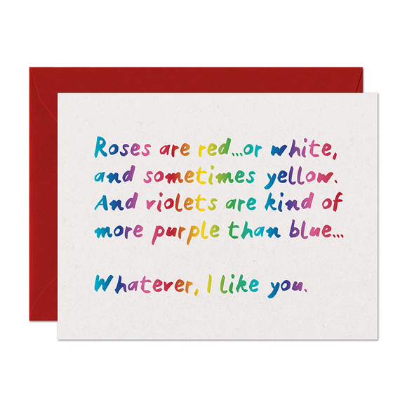 Roses Love Card (Rainbow Foil)