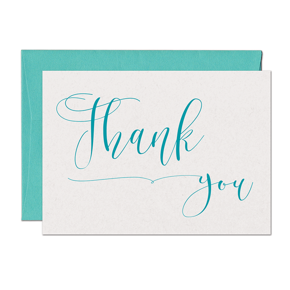 CLEARANCE - Cursive Thank You Card