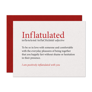Inflatulated Farting Love Card