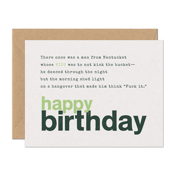 SALE - Limerick Wish Birthday Card
