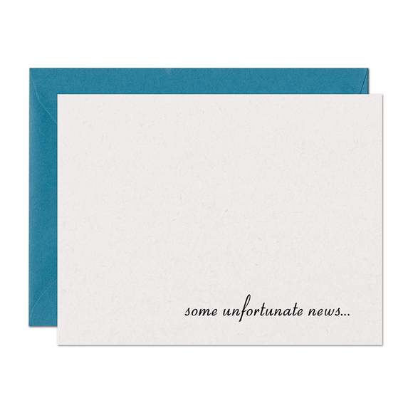 SALE - Unfortunate News Support Card