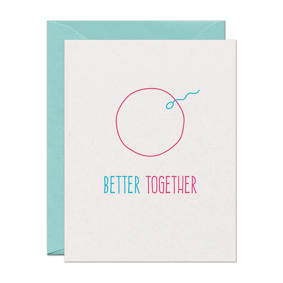 SALE - Better Together Baby Card