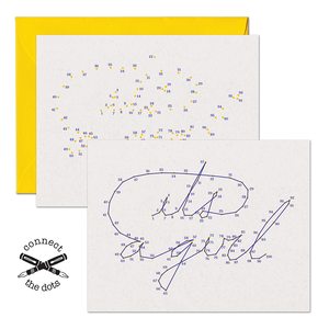 SALE - Connect the Dots:  It's A Girl Card