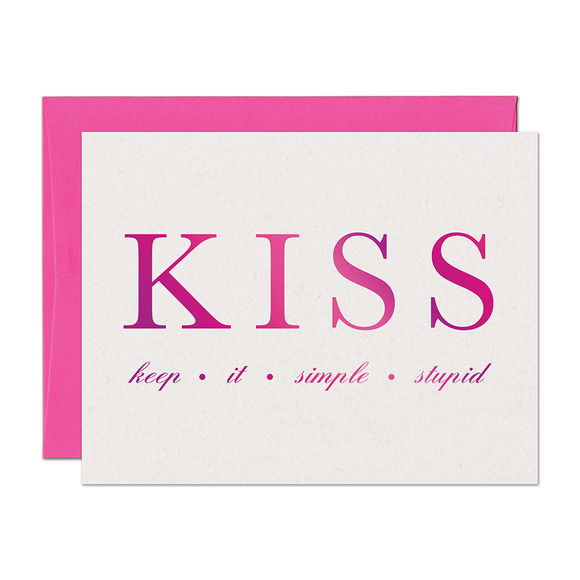 SALE - Keep It Simple (Pink Foil)