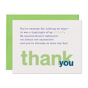 SALE - Limerick Getaway Thank You Card