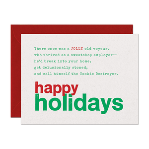 SALE - Limerick Jolly Holiday Card