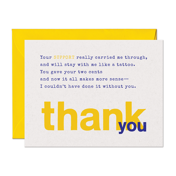 SALE - Limerick Support Thank You Card