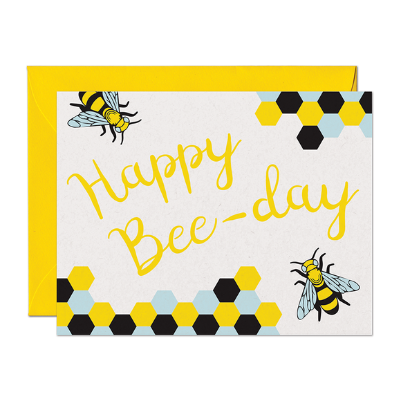 Happy Bee-Day Birthday Card