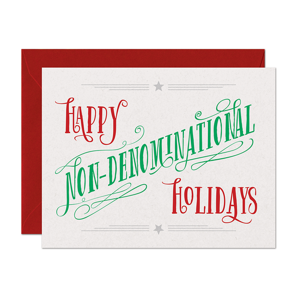 Non-Denominational Holiday Card
