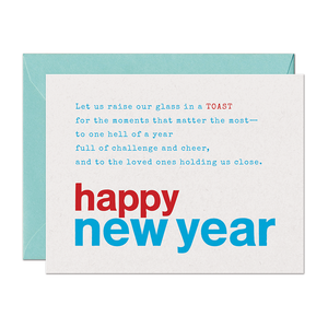 SALE - Limerick Toast Holiday Card