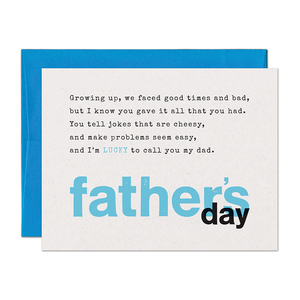 Limerick Lucky Father's Day Card