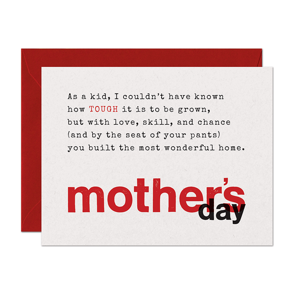 Limerick Tough Mother's Day Card