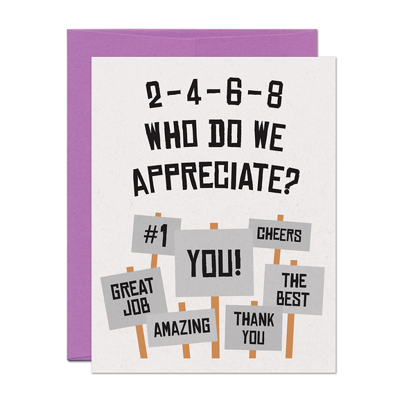 2-4-6-8 Thank You Card