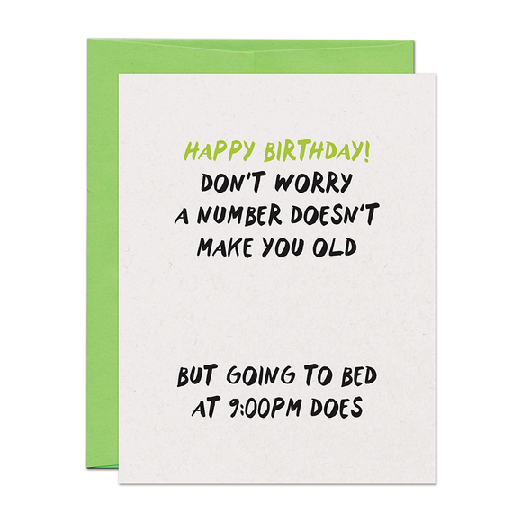 9pm Birthday Card