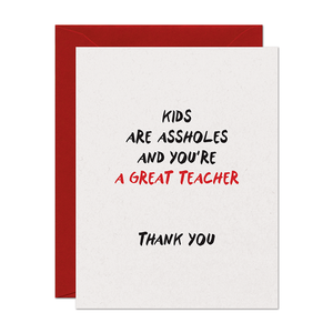Asshole Kids Thank You Card