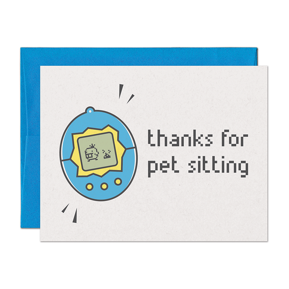 Virtual Pet Thank You Card