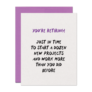 Projects Retirement Card
