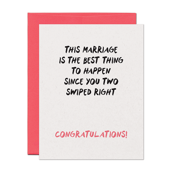 Swiped Right Wedding Card