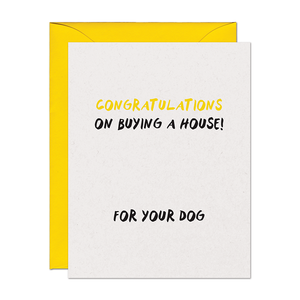Dog House Congratulations Card