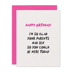 Birthday Sex Card