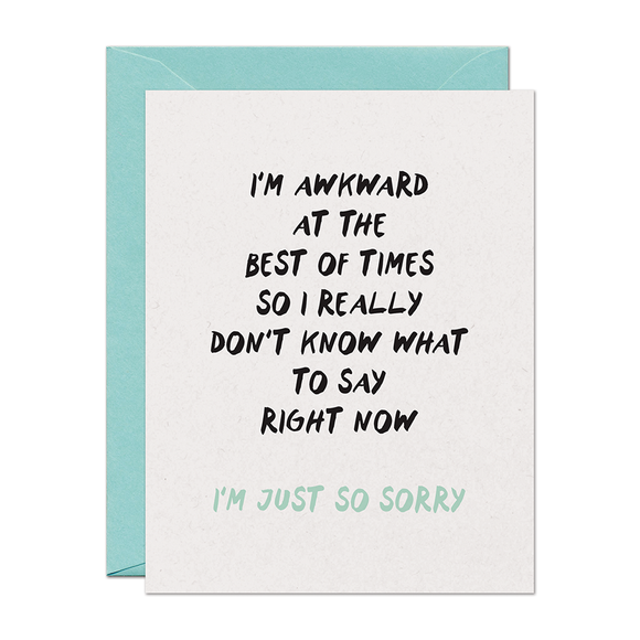 Awkward Sorry Support Card