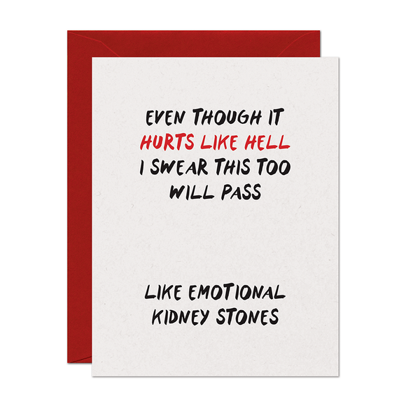 Hurts Like Hell Support Card