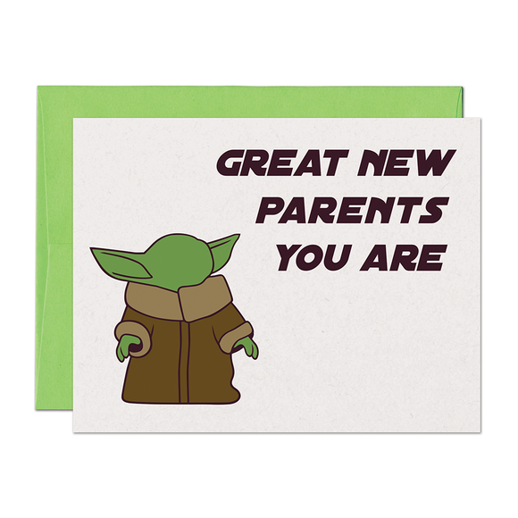 Baby Yoda New Parent Card