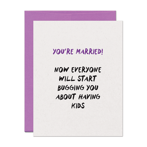 You're Married Wedding Card