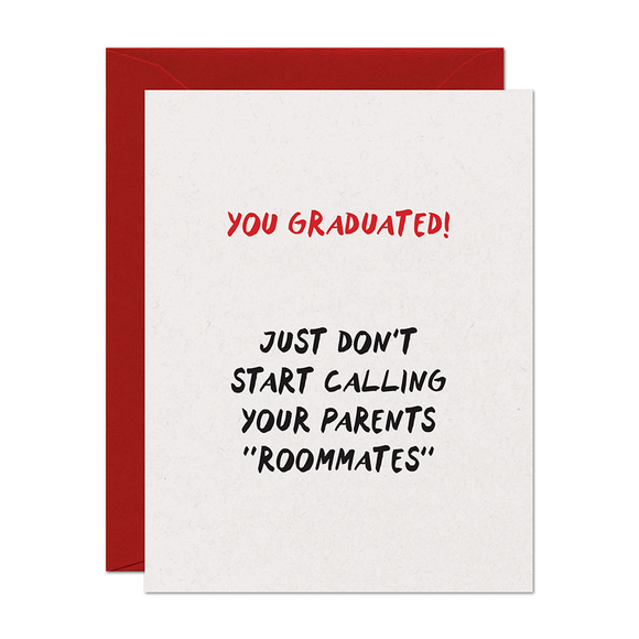 Roommates Graduation Card