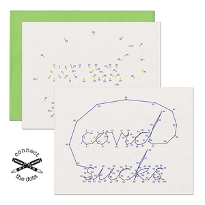 Connect the Dots:  COVID Sucks Card
