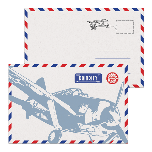 SALE - Air Mail Postcard