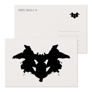 SALE - Thinking of You Rorschach Postcard