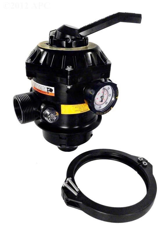 Pentair Tagelus TA-D HiFlow Multiport Valve 1-1/2 Inch Top Mount (TA30/40/50/60D) and Clamp - 6 Inch Neck 262506