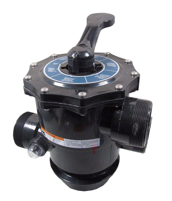 Pentair Tagelus TA HiFlow Multiport Valve 2 Inch Top Mount (TA60, SD80), Clamp - 6 Inch Neck, With Unions 262525