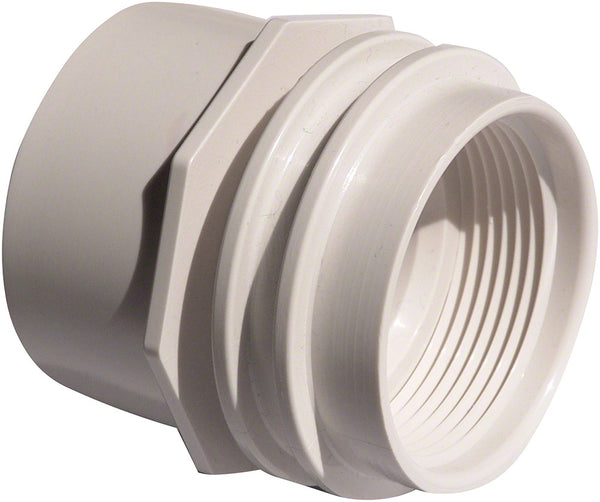 AquaStar Vac Fitting With Water Stop - 1-1/2 Inch FPT - White 32XX