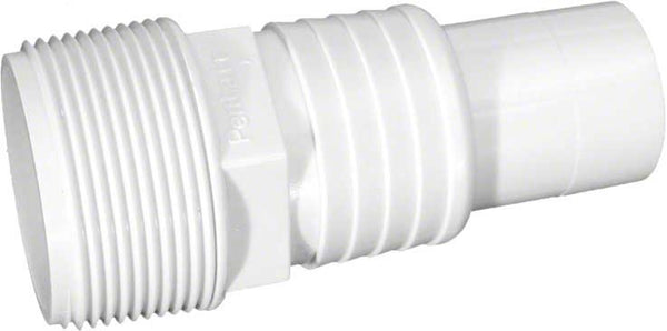 Pentair Hose Adapter - 1-1/2 Inch MIPT x 1-1/4 Inch - White 510166