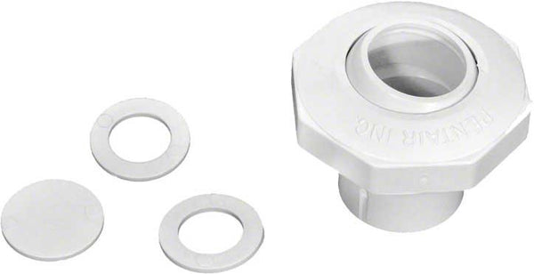Pentair Insider Inlet Fitting - 1 Inch Slip - Snap-in Disks - White 542000