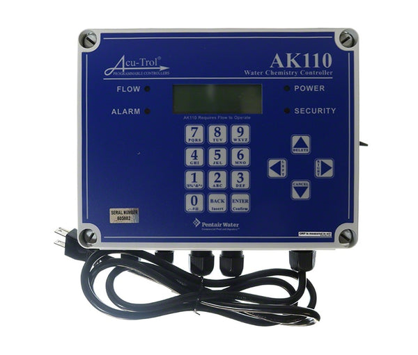 Acu-Trol AK110PS-A Chemical Controller, pH, ORP, Temp and Flow Cell 701000110