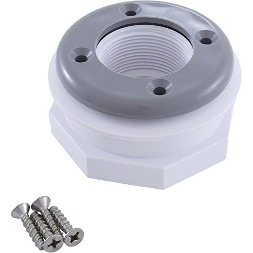 Pentair Return Inlet Fitting for Vinyl Liner - 1-1/2 Inch FIPT - Gray 86205103