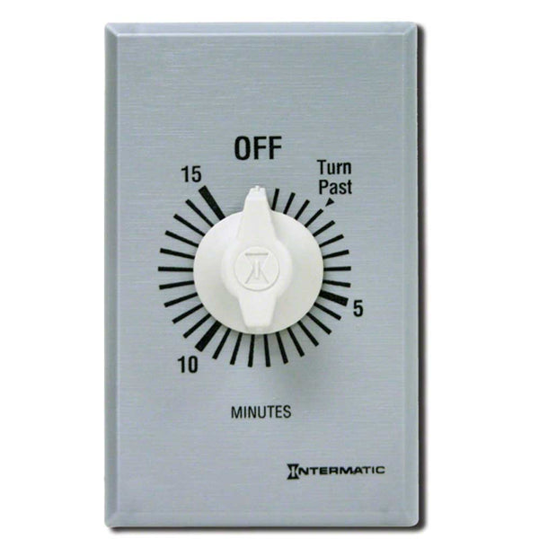 Intermatic Commercial Auto-Off Timer, 15 Minute DPST 125-277V 897-FF415M