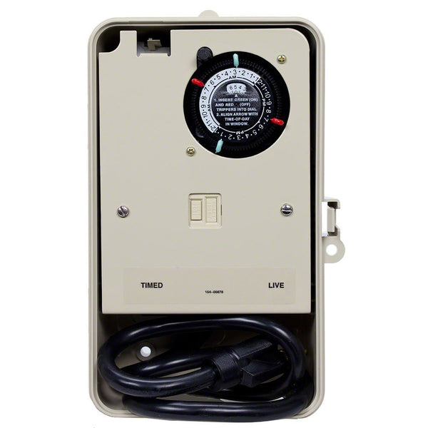 Intermatic Portable Two Circuit Fountain Timer 15 Amp 1 HP 897-P1261P