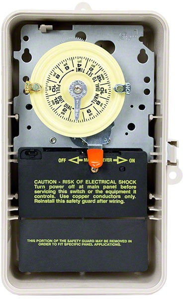 Intermatic Mechanical Time Switch 125V SPST Outdoor Plastic 897-T101P3