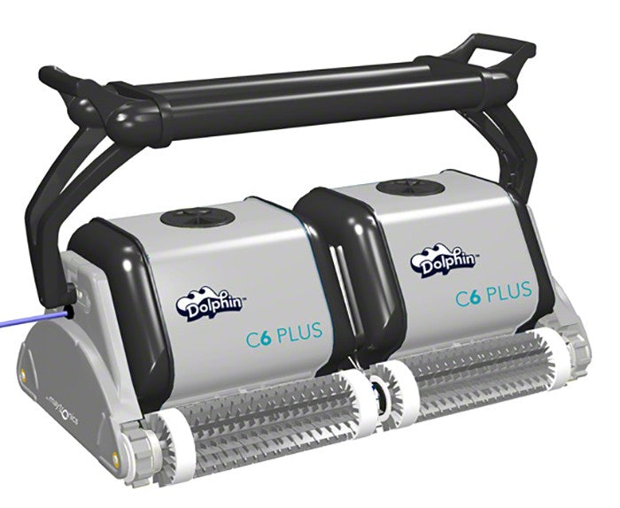 Maytronics Dolphin C6 Plus Pool Cleaner with 131 Foot Swivel Cable and Caddy 9999356-C6P