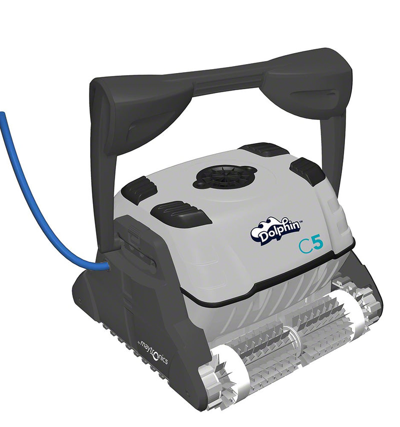 Maytronics Dolphin C5 Robotic Cleaner with 98 Foot Swivel Cable and Caddy 9999396X-C5