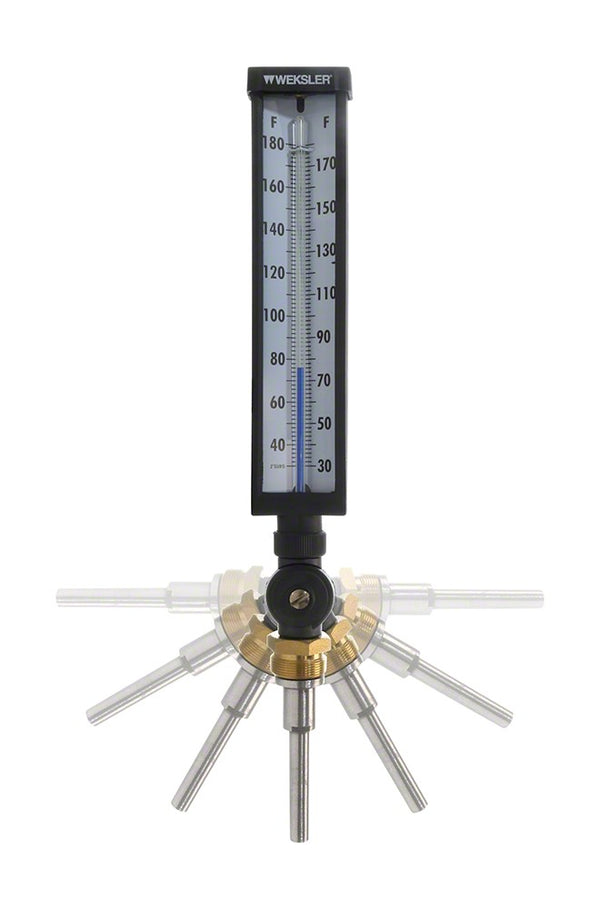 Adjustable Angle Thermometer 30-180 Degree 3 1/2 Inch Stem A935AF4